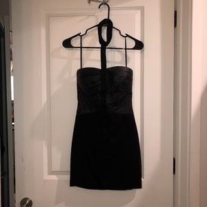 bebe Dresses - Bebe: Black mini dress with strap choker